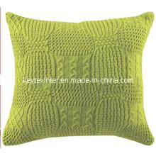 Housse de coussin maison en tricot