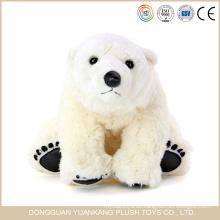 Juguete oso de peluche polar felpa blanca