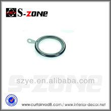 R08 good sliding brass plating metal curtain rings plastic hook