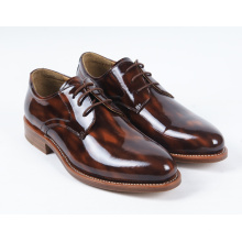 Dark Brown Flat Genuine Leather Mens Business Shoes (NX 433)