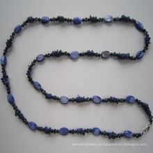 Muito bonita Shell & cristal moda colar