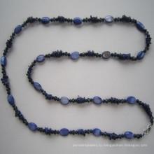Длинные красивые оболочки & кристалл ожерелье