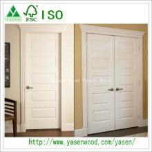 Porte en bois blanche à panneau surélevé