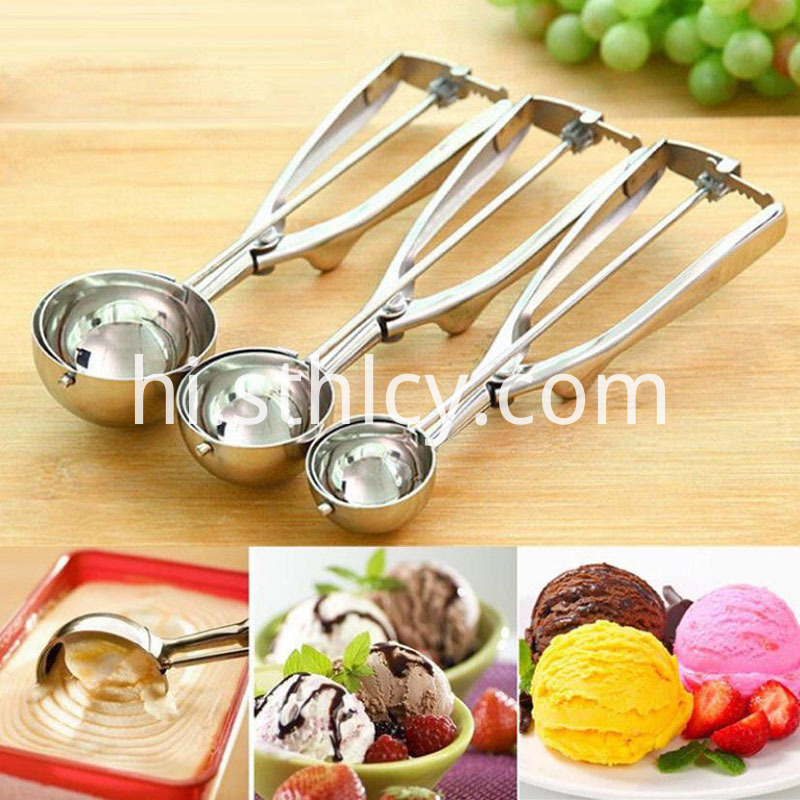 Stainless Steel Ice Cream Spoon Digging Ball Fruit Spoon