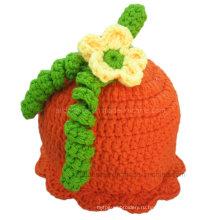 Детские Hat Вязание крючком Тыква шаблон руки трикотажные Теплый Cap Hat