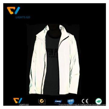 alta visibilidade 3m tecido refletor para fazer jaqueta