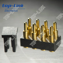 8 Pin Double Row Spring Loaded Pogo Pins with Cap for SMT Sucker
