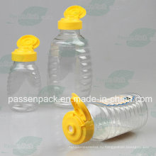 150г ПЭТ бутылка с медом с силиконовым клапаном (PPC-PHB-08)