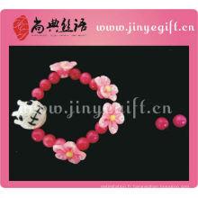 Vente chaude rose voodoo doll main vingtage bracelet