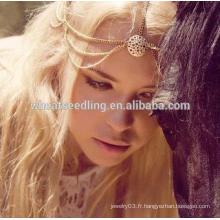 Décoration des cheveux, cheveux, bande, tête, tête de tête, mode, indien, boho, tête, bijoux