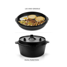 Outdoor Camping Double Used Cast Iron Camp Dutch Oven