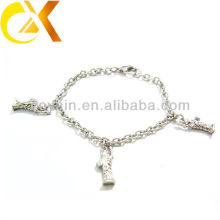 stainless steel jewelry bracelet with statue pendant for lovely girl