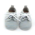 Nya stilar Stripe Leather Baby Oxford Shoes Wholesale