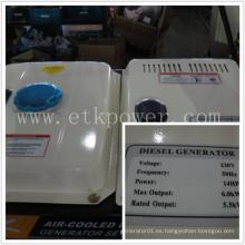 Generador diesel del funcionamiento automático fijado (6.0KW)