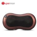 Massage du dos / du cou Shiatsu, Massage oreiller avec chaleur et 6 rouleaux pour siège de voiture de bureau de chaise, pétrissage profond