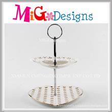 2 Tiers Ceramic Cake Candy Jewelry Wedding Plate