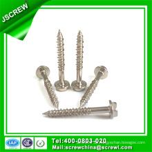 M10 * 38 Edelstahl Sechskantscheibe Selbstschneidende Schraube