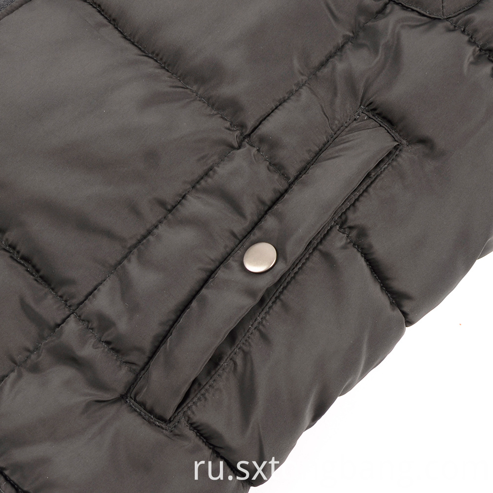 Zipper Closure Design Padded Vest
