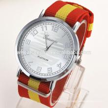 La mayoría de los productos populares de Ginebra ancho baratos relojes banda de cuero