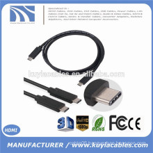 2015 New Arrival 1M True USB 3.1 Type C Male to Male Cable Cord for nokia n1