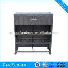 Modern design wicker living room furniture cabinet