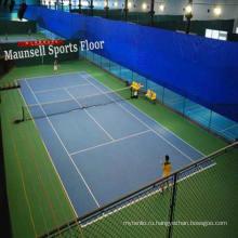 Крытый пластиковый теннисный спортивный пол