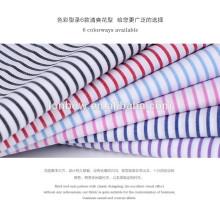 stock lot 100% cotton yarn dyed silk finishing shirting fabric