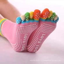 Самые популярные женские носки для йоги с половиной носка на заказ