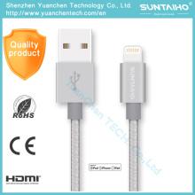 Cable USB trenzado original con Mfi certificado para iPhone 5 6 7 Ios