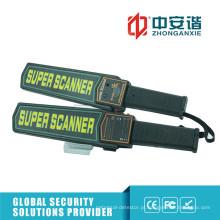 Detecção de corpo rápida Inspeção de fábrica Detector de metal portátil com bateria
