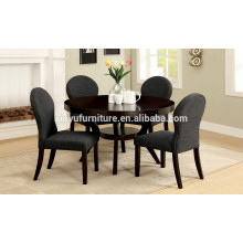 Round dining table and backrest fabric chair XYN1501
