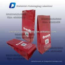 Folha de alumínio koffee / saco de café com entalhe rasgo / 250gr / 8oz FRESH ground coffee bag