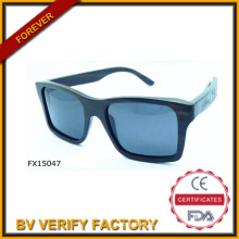 Óculos de sol de madeira do alibaba comércio garantia Square (FX15047)