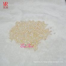 Бусины жемчуга белого риса 5-6 мм