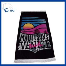 100% algodão toalha de praia borlas (qhed5540)