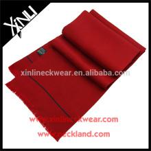 Impresso longo lenço de seda cor sólida