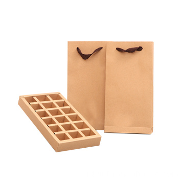 Recycle Kraft Packaging Box Tea Lipat dengan Divider