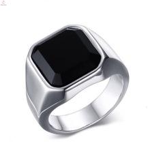 Мода Из Нержавеющей Стали Палец Большой Камень Серебряные Простые Кольца