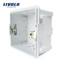 Boîte de montage interne standard pour matériaux de plastique blanc de 83 mm * 83 mm au Royaume-Uni, pour interrupteur de lampe murale standard de 86 mm * 86 mm