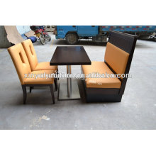 Booth sofa and chairs for restaurant table sets(XY0703)