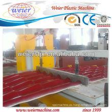 línea de producción de tejado de resina corrugada