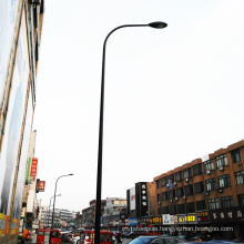 Hot dip galvanized and powder coated single arm street road lighting steel pole 12m for sale