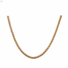 Aço Inoxidável Atacado 7Mm Gold Flower Basket Chains Necklace