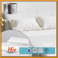 """T / C 50 50 120 """"large tissu tissé blanc de l'hôtel"""