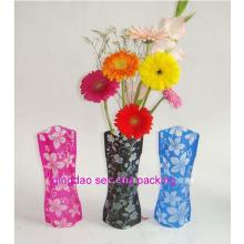Fertigen Sie Plastik faltbare Blumen-Vasen besonders an