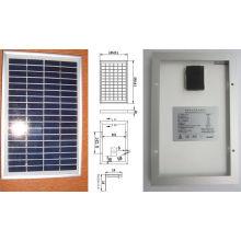 Módulo fotovoltaico de panel solar de 5W con cristal policristalino