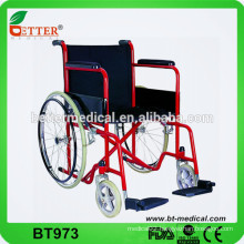 Steel portable economy wheelchair