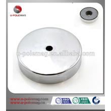 D20x5m hole ferrite pot magnet