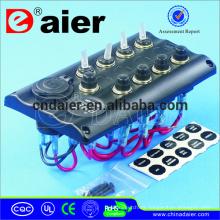 PN-TB4-S1S4 12V LED interruptores marinos palanca