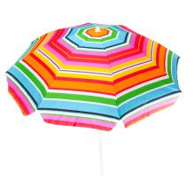 Meeressonnenschirm mit Tragetasche Regenbogen-Stroh-Sonnenschirm zum Eindrehen für den Außenbereich